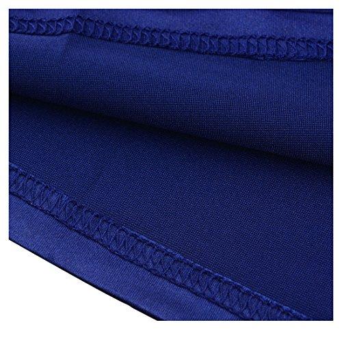 Miusol Women's Retro Floral Lace Vintage 2/3 Sleeve Slim Ruched Wedding Maxi Dress,Navy Blue,Large