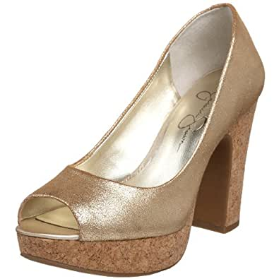 Jessica Simpson Women's Candi Pump,Gold,9.5 M US