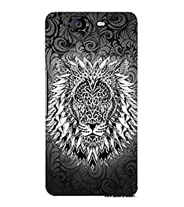 Tatto Manly Lion 3D Hard Polycarbonate Designer Back Case Cover for Micromax Canvas Knight A350
