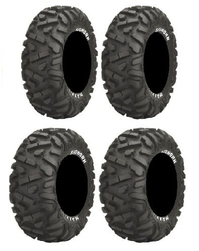 Full set of Maxxis BigHorn Radial 25x8-12 and 25x10-12 ATV Tires (2) (Atv Tires Maxxis compare prices)