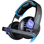 Kotion Each G6200 7.1 Channel USB Over Ear Gaming Headphones For PC With Vibration (Black/Blue)