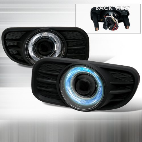 99 00 01 02 03 Jeep Grand Cherokee Projector Fog/Driving Lights - Black (Pair) front-17919