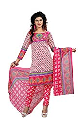 Pruthu Georgette Dress Material, Printed Unstitched (pmas_07_Pink_Free Size)