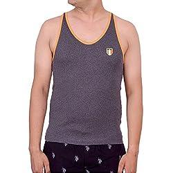 Onn Men's Cotton Sports Itala Vest_943_Charcole_S(80/85cm)