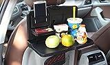 FIRE START トレイ リアシートトレイ ステアリングテーブル自動車用折り畳みテーブル食事や作業に車内用テーブル運転席&後部座席に取付可能!車内クイックテーブル ブラック