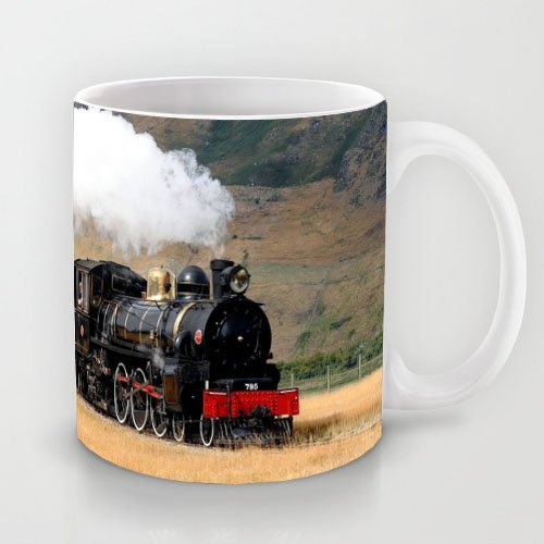 Wonderful Gift Choice - White 11 oz Classic White Ceramic Mugs Cutom Design with Locomotive Train Smoke Coffee Mugs/Tea Mugs/Drink Cups - Dishwasher and Microwave Safe (The View Coffee Cup compare prices)