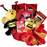 Bee Mine Chocolate and Cookie Gift Basket - Valentine's Day