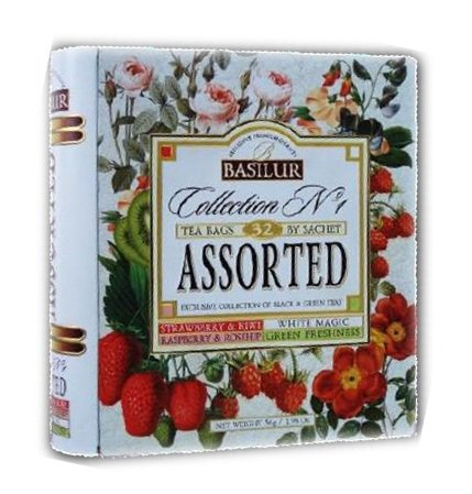 """Exclusive Collection Of Black And Green Teas With Natural Fruits And Flavours Basilur """"Collection No.1"""" Assorted, 32 Packs"""