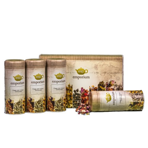 ESP Tea Emporium Fruit Flavored Tea Enthusiast Gift Package, 4 Count (Esp Gift Package compare prices)
