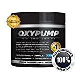 OxyPump Blue Raspberry - Best Pre-Workout Formula to Burn Fat and Build Muscle Quickly - Workout Longer and Recover Faster - Ultra-Concentrated Formula with Zero Fillers