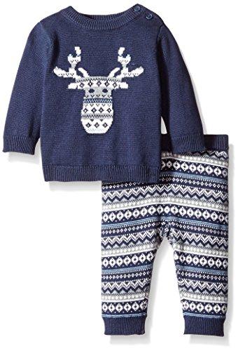Gymboree Baby Navy Moose Fairisle Sweater Set With Leggings, Navy, 3-6 Months