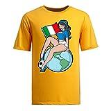 2014 ワールドカップ サッカー UネックのTシャツ メンズ