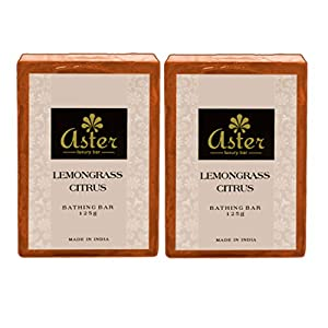 Aster Luxury Lemongrass Handmade Soap - Set of 2