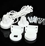 White Curtain Roller Cluth Bracket Bead Chain 25mm Tube Repair Kit Shutters Blind Accessories