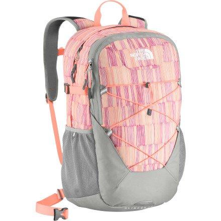 The North Face Women'S Slingshot Backpack (Twist Orange/Squiggle Print) front-881071