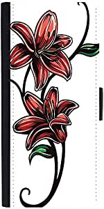 Snoogg Floral Vector Element Designer Protective Phone Flip Case Cover For Redmi 2 Prime