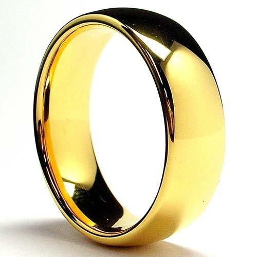 7MM Bague De Mariage tungstene Plaque d  or Pour Homme Taille 58 ...