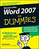 Word 2007 For Dummies (0470036583) by Gookin, Dan