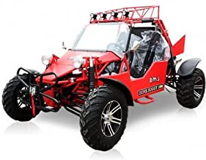 BMS Sand Sniper 1000 RED Gas 4 Cylinder 2 Seat Dune Buggy Go Kart