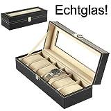 Uhrenkoffer Uhrenbox Schaukasten Uhrenkasten Uhrenvitrine...
