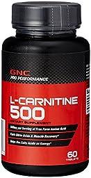GNC Pro Performance L-Carnitine 500 60 Tablets