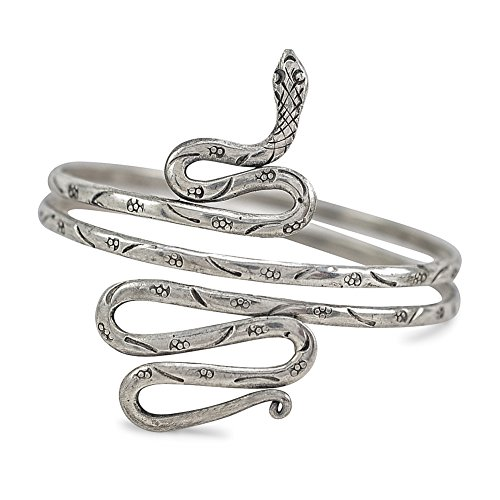 Silver Snake Arm Cuff Bracelet - Arm Cuff Jewelry for Women