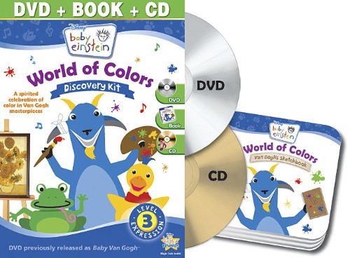 Baby Einstein: World Of Colors Discovery Kit (Dvd/Cd/Board Book) front-405586