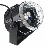 KINGSO LED Licht Rotation Automatisch Bühnenbeleuchtung 5W RGB Sprachaktiviertes Kristall Magic Ball Bühnenlicht für Show DJ Disco Ballsaal KTV Stab Stadium Club Party