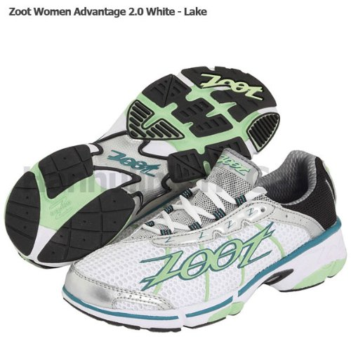 Zoot Women's Advantage 2.0 Running Shoes, White/Lake (9)