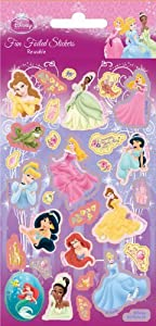 Disney Princess New Sticker Strip Holofoil, 9.5x19.5 cms pack size