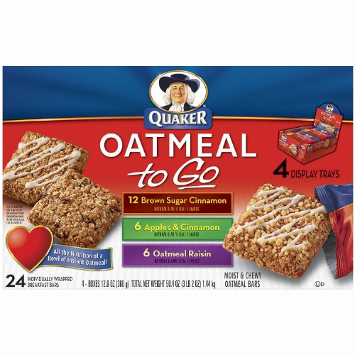 Quaker Oatmeal To Go Variety Pack - 24 Count please note: Does not contain Bananna / Contains Apple