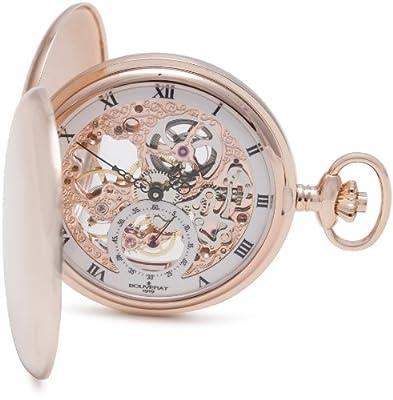 Bouverat 1919 Pocket Watch BV824301 Rose Gold Plated Full Hunter