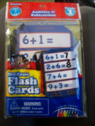 Addition & Subtraction Dry Erase Flash Cards with Marker