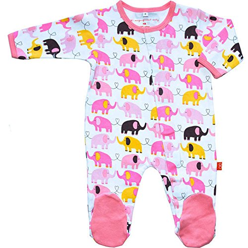 Magnificent Baby Footie Magnet Close Elephant Girl Footed Sleeper Pajama Newborn