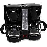 Amazon.com: Kitchen Selectives CM-302BL Dual Carafe 12-Cup Drip Coffee Maker, Black: Kitchen ...