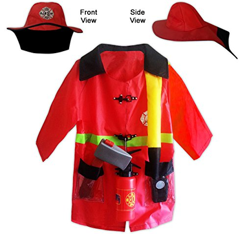 Child Fireman/Fire Fighter Costume for Boys/Kids for Pretend Role Play/Halloween