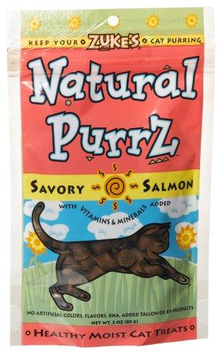 Zuke's Natural Purrz Cat Treats, Salmon, 3-Ounce