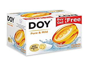 Doy Glycerin Transparent Pure Mild Soap (125g) (Pack of 3)