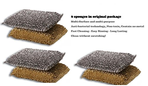 6 Cleaning Non-scratch Scrub Sponges/pads Made in Israel