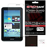 [2 Pack] TECHGEAR® Samsung Galaxy Tab 2 7.0 P3100 with Wifi & P3110 (7 inch) CLEAR LCD Screen Protector Covers With Cleaning Cloth & Application Card
