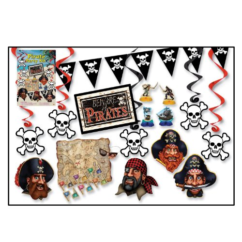 Beistle 55026 16-Piece Pirate Party Kit