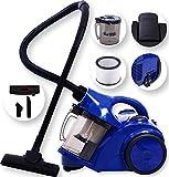 Kesser® 1600 Watt max Staubsauger Bodenstaubsauger Beutellos mit Hepa Filter Zyklon, Farbe:Blau / Schwarz