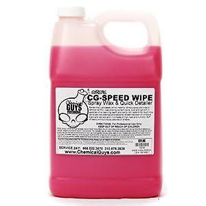 Chemical Guys WAC_102 CG Speed Wipe Spray Detailer and Streak Free Quick Speed Shine Wax - 1 Gallon
