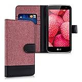 kwmobile Wallet Case Canvas Hülle für LG K4 LTE - Flip