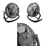 iZKA® Retro Light-Weight USB Powered Desktop Silent Fan - Ideal For PC, Laptop, Netbook, Ultrabook: Apple MacBook, Sony, HP, Dell, Acer, Toshiba, Samsung, Medion, Asus, Alienware, Rockdirect, Mesh MSI, MSI, Fujitsu, Zepto, Lenovo, Eee PC, Advent, IBM ThinkPad, eMachines, Motion J3400, Panasonic, Getac, Packard Bell, AJP M555N-E, ViewSonic, OQO, Apple iBook, Averatec, Hewlett-Packard