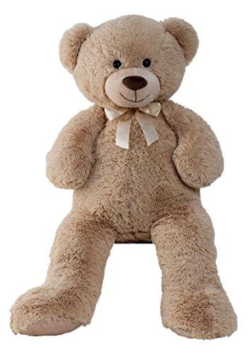 XXL-Teddybr-1m-Hellbraun-Kuschelbr-Kuscheltier-Stofftier-Br-Teddy