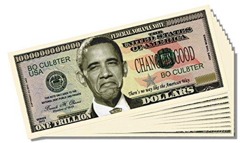 """Nobama"" (President Obama) Million Dollar Bill - 10 Count with Bonus Clear Protector & Christopher Columbus Bill - 1"