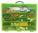 Lego Compatible Organizer Lime/Green- Fun for Life is Pefect Lego Compatible Storage Case Fits up to Approx 1000 Lego Parts