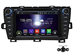 See Pumpkin 8 inch Android 4.4 Kitkat For Toyota Prius 2009-2013 Double Din In Dash HD Capacitive Touch Screen Car DVD Player GPS Navigation Stereo Support Bluetooth/SD/USB/Ipod/FM/AM Radio/OBD2/DVR/3G/AV-IN/1080P with Backup Camera as gift Details