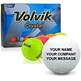 Volvik Crystal Multi-Color Personalized Golf Balls